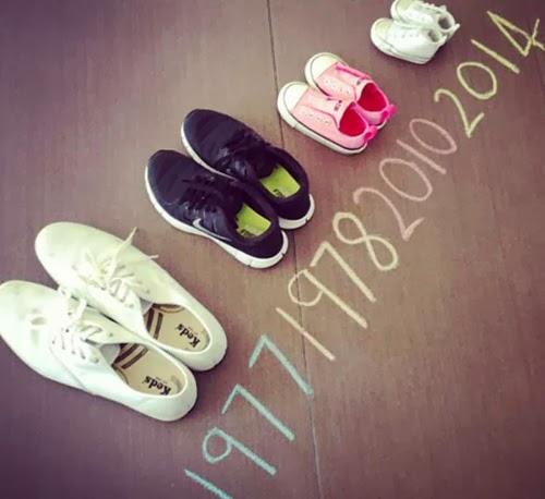 anunciar embarazo con zapatos