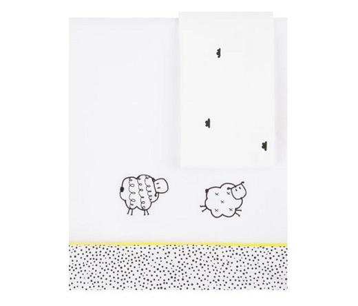 Sabanas colección Good Night diseño de ovejitas color blanco y amarillo