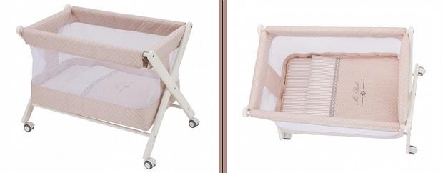 Minicuna Charlotte transpirable para el bebé