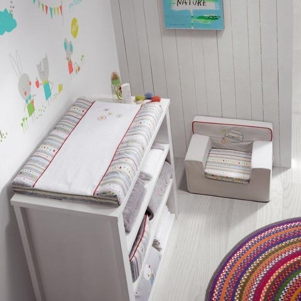 Cambiador para bebé de la colección Fruit farm de Petit Praia