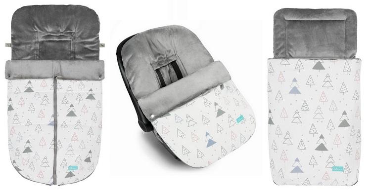 sacos coleccion winter con arboles de navidad marca baby clic