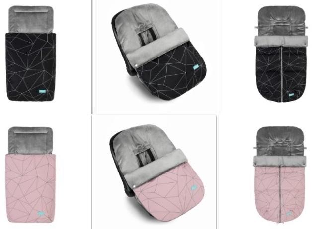 nuevos sacos para silla capazo grupo 0 geometric color negro o rosa